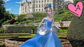 getlinkyoutube.com-Cenicienta - Historia en español para niñas y niños con muñecas Barbie y juguetes de Disney