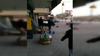 6 kişinin yaralandığı komşu kavgası kamerada