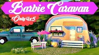 getlinkyoutube.com-Sims 4 | House Build: Barbie Caravan  - Micro Home (Only 4x5)
