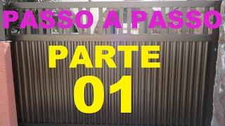 getlinkyoutube.com-Passo a Passo Como fazer portão de alumínio  PARTE 01