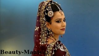 getlinkyoutube.com-Bridal Makeup - Traditional Look - Complete Hair And Makeup