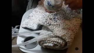getlinkyoutube.com-How to make sleeping mats for the homeless out of plastic bags