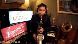 getlinkyoutube.com-Treasure - Saxcover By Nobnab  @Saxsociety