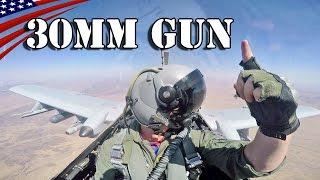 getlinkyoutube.com-A-10 Thunderbolt II 30mm Gatling Gun Firing : Cockpit view - A-10攻撃機 30mmガトリングガン発射・コックピット映像