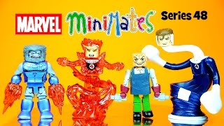 getlinkyoutube.com-Marvel Minimates includes Mr. Fantastic Puppet Master Human Torch & Blastaar Series 48
