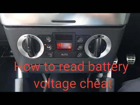 Audi TT how to read battery voltage cheat