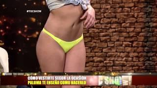 Palomita Cifuentes te enseña como vestirte con bikini en #tocshow