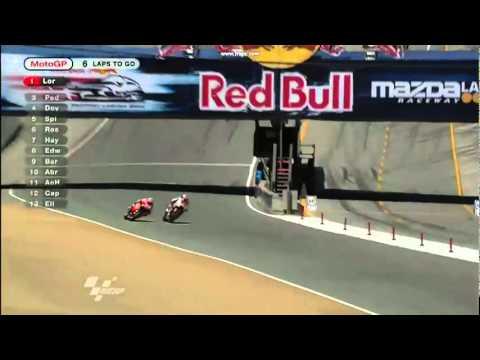 MotoGP Laguna Seca 2011-Sorpasso di Stoner su Lorenzo