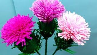 getlinkyoutube.com-Easiest Paper Flowers Thistle (flower # 92)