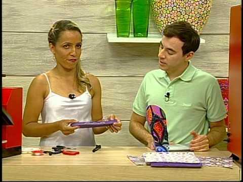 Programa Arte Brasil - 30/01/14 - Andréia Bassan - Fabricação e Customização de Chinelos