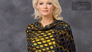 How to Crochet A Shawl: Open Wave