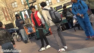 FAKE JORDAN PRANK IN THE HOOD