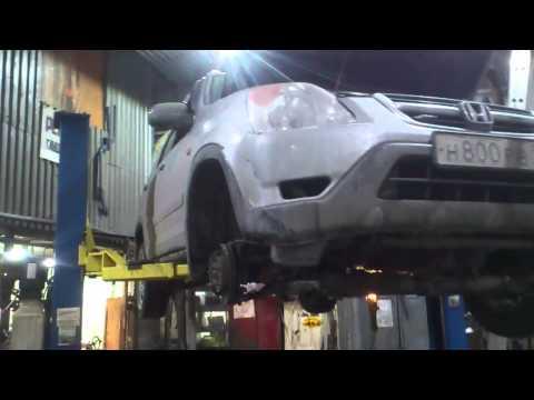 Honda C-RV снятие поддона