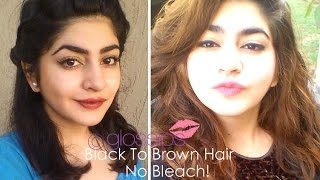 getlinkyoutube.com-Black To Brown Hair - Without Bleaching - How I Did It