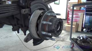 getlinkyoutube.com-Rear Axle Bearing, Seal, E-Brake shoes, Brake Pads & Rotor Replacement Chevrolet Silverado 2500 HD