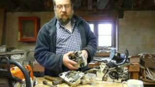 getlinkyoutube.com-Part 1: Stihl chainsaw, replace main bearings 026 MS260 036