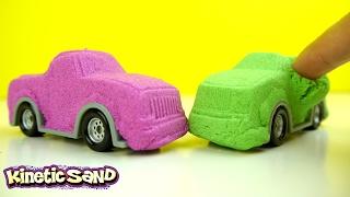 getlinkyoutube.com-ألعاب سيارات أطفال من الرمل السحري! DIY Kinetic Sand Cars