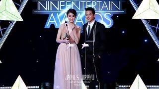 [Fancam] 2015.05.14 เจมส์ จิรายุ & ปอย ตรีชฎา - 'ประกาศผลรางวัล' @ งาน NINE ENTERTAIN AWARDS 2015