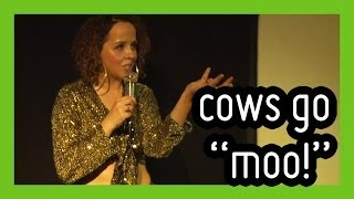 getlinkyoutube.com-'Cows Moo in Different Accents' - funny stand up comedy by Luisa Omielan | ComComedy