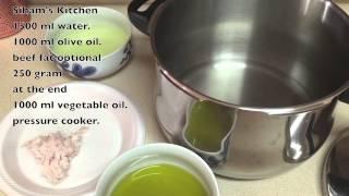 getlinkyoutube.com-طريقة إعداد القديد او الخليع المغربي  Homemade moroccan dry meat Gueddid or Khlii