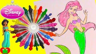 getlinkyoutube.com-Disney Princess Coloring Page with Shopkins and Surprises