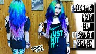 Bleaching & Coloring Hair Sea Creature Inspired