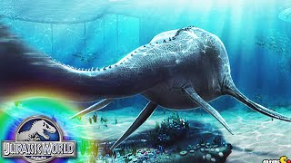 getlinkyoutube.com-The Aquatic Park Creatures In Lagoon Water - Jurassic World The Game