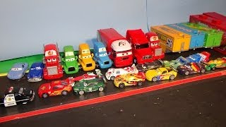 getlinkyoutube.com-Play Doh Pixar Cars Lightning McQueen and World Cup Grand Prix Racers in Radiator Springs Show and S