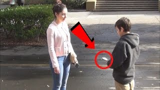 getlinkyoutube.com-12 Year Old Exposes Gold Diggers Prank - Money Edition