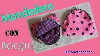 getlinkyoutube.com-Monedero con boquilla hecho con tela | Tutorial DIY