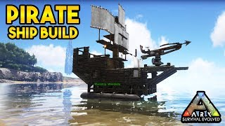 ARK Survival Evolved Gameplay #55 Pirate Ship Design Aka Warship Wardodo