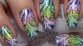 download video abstraktes regenbogen ombre sommer nageldesign mit nagellack colorful rainbow. Black Bedroom Furniture Sets. Home Design Ideas