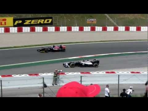 Michael Schumacher Crash Barcelona 2012