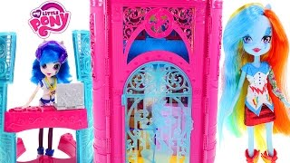 getlinkyoutube.com-New Equestria Girls Canterlot High School My Little Pony Playhouse - - - Doll House Toy Unboxing