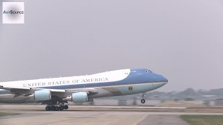 getlinkyoutube.com-Air Force One Boeing 747 Takes-off at Osan Air Base, Korea.