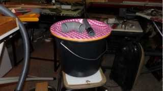 Thien Cyclone Separator - small cheap easy version - DIY - baffle top hat dust-separation work-shop
