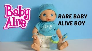 getlinkyoutube.com-Baby Alive Wets n Wiggles BOY Doll Sam UNBOXING, FEEDING & CHANGING video!