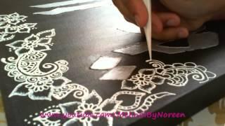 getlinkyoutube.com-Hennaing a Canvas with Acrylics