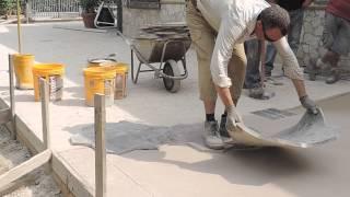 getlinkyoutube.com-Video Pavimentazione in Calcestruzzo Stampato