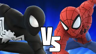 getlinkyoutube.com-Black Suit VS Spider-Man - Disney Infinity BATTLES!