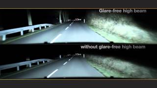 getlinkyoutube.com-HELLA Glare-free High Beam - Driving with high beam without dazzling others
