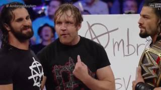 Dean Ambrose hits dirty deeds on Roman Reigns (WWE RAW 06/13/16)