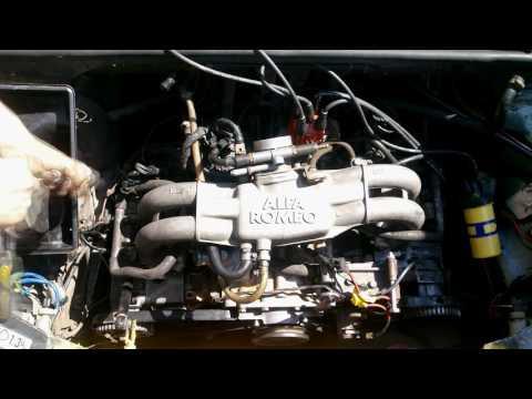Alfa Romeo 33. Установка ГБЦ на двигатель.