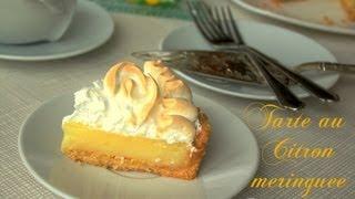 getlinkyoutube.com-tarte au citron meringuée, chez amour de cuisine de soulef