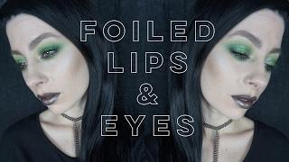 getlinkyoutube.com-Foiled Lips & Eyes | Makeup Geek Foiled Pigment and Lipgloss Makeup Tutorial