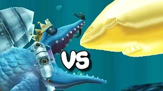 getlinkyoutube.com-Hungry Shark Evolution - Mr. Snappy vs Megalodon
