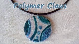 getlinkyoutube.com-Ciondolo Effetto Vetro-Glass Effect Tutorial (polymer clay tutorial)