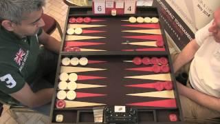getlinkyoutube.com-The Backgammon London Open 2013: Feature Match 10 - Raj Jansari VS Julien Fetterlein