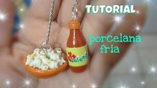 "palomitas y salsa TUTORIAL ""Porcelana fria"""