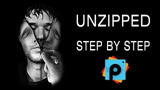 getlinkyoutube.com-PicsArt Tutorial HOW TO MAKE AN UNZIPPED FACE by paolomore using #picsart photo studio